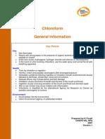 Compendia of Chemical Hazards CHLOROFORM v2