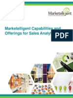 Marketelligent Capabilities & Offerings for Sales Analytics