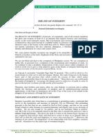 109th Plenary Assembly - FINAL Pastoral Exhortation (the JOY of INTEGRITY)