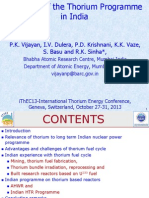 Overview of the Thorium Programme in India - PK Vijayan