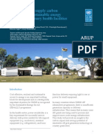 Off-grid power supply carbon footprint and sustainable energy planning of primary health facilities