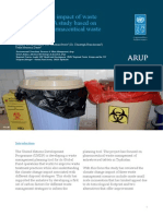 Climate change impact of waste management - A study based on Tajikistan's pharmaceutical waste management