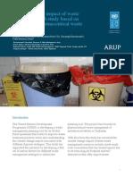 Climate change impact of waste management - A study based on Tajikistan's pharmaceutical waste management