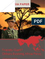Holslag, Jonathan (2008), Friendly Giant - China's Evolving Africa Policy