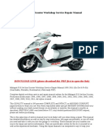 Malaguti F10 Jet-line Scooter Workshop Service Repair Manual