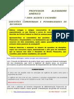 PF 2009 Comentarios a Prova PF 2009 e Provaveis Recursos - Alexandre Américo