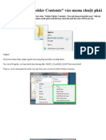 Bổ sung   - Delete Folder Contents- vào menu chuột phải