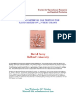Bayesian Methods for Testing the Randomness of Lottery Draws David Percy