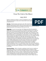 July 2014 Fleischmanns Mayor's Newsletter