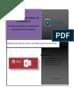 Trabajo Micrfosoft Access 2013