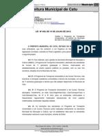 Decreto Municipal Transportes Catu
