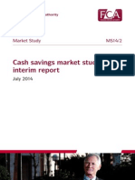 FCA Market Study- Cash Savings Market Study Interim Report July 2014