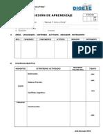 Modelo de Sesion de Aprendizaje 2014