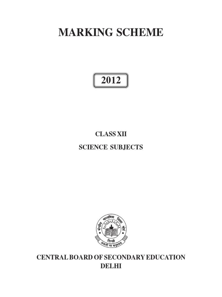 Science Book - CBSE Marking Scheme- 2012 | Stress (Biology) |  Self-Improvement