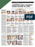 Son Trece Los Candidatos Que Compiten Para Ser El Próximo Alcalde de Lima