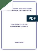 Inversion Extranjera Directa CR 1997-2002 Set2002