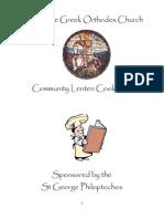 Lenten Cookbook