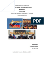 Acontecimiento Politico y Social de Venezuela Actual