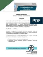 Unidad 3 Controles Administrativos - Planeación