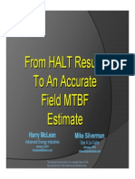 From HALT Results to an Accurate Field MTBF - Presentation