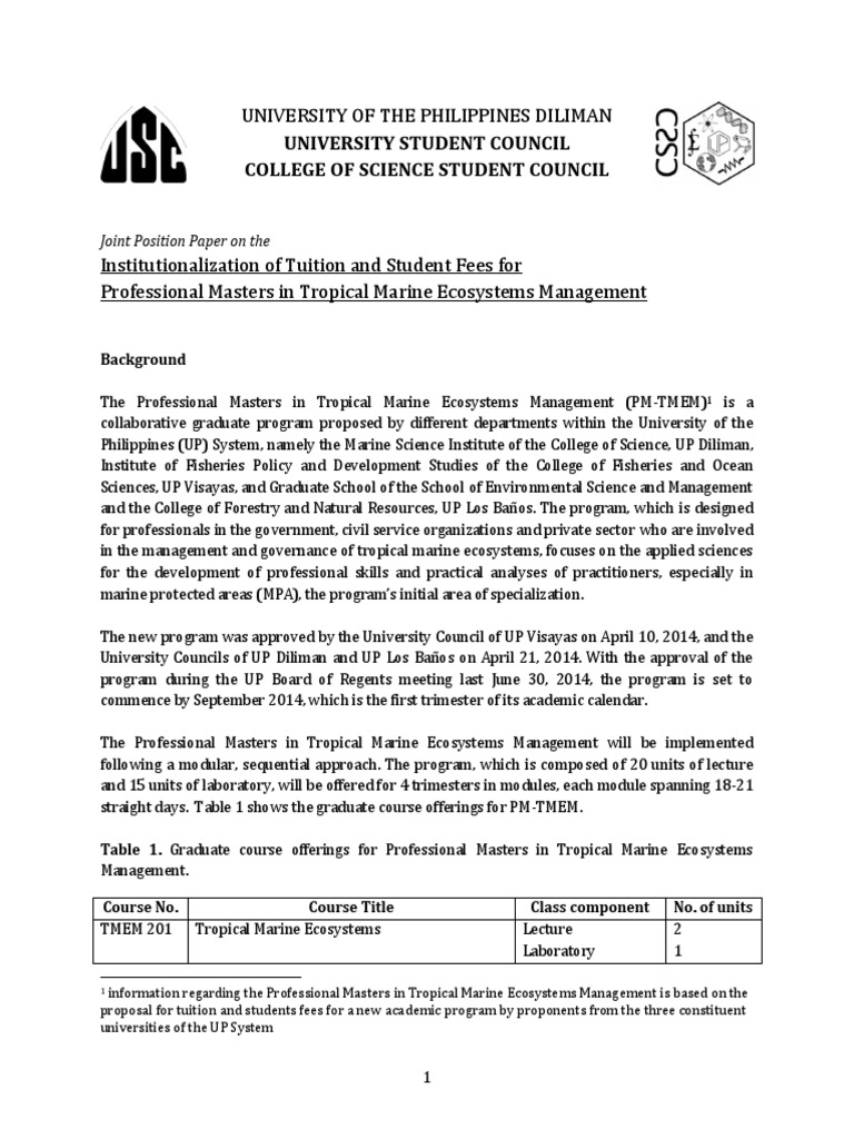 Master thesis position