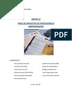Informe Pago de Impuestos de Profesionales Independientes