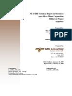 ElQuevar NI 3-101 Tech Report FIN Sm