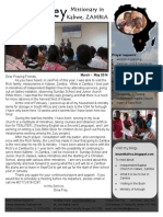 Prayer Letter (March-May 2014)