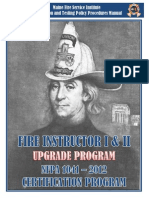 Fire Instructor I II UPGRADE Cert Manual2