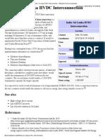 India – Sri Lanka HVDC Interconnection
