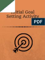 Initial Goal Setting Activity