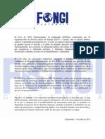 Pronunciamiento Del FONGI