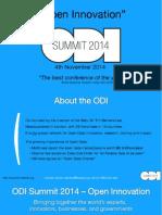 ODI Summit 2014 - Sponsorship deck