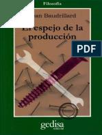 El Espejo de La Produccion - Jean Baudrillard