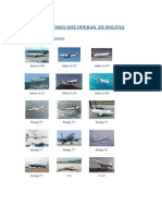 Tipos de Aviones Que Operan en Bolivia