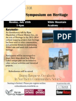 Cultural Symposium poster