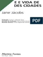 Morte e Vida Nas Grandes Cidades Jane Jacobs
