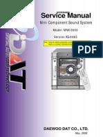 Manual Servicio Mini Component Sound System Noblex Mnx 3000s