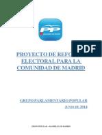 Proyecto de Reforma Electoral GPP Junio 2014