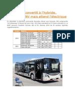 La RATP Se Convertit à l'Hybride Urbanway 12 Diesel Bus 122 Juilet 2014
