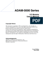 ADAM-5000 IO Module User Manual 2nd Edition