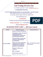 Master Test List
