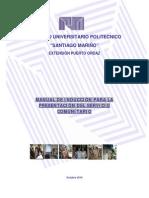 Manual de Inducci+¦n al Servicio Comunitario