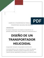 Diseño de Transportadores Helicoidales