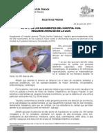 26 de junio de 2014_EL 20 %  DE LOS NACIMIENTOS, REQUIEREN DE ATENCIÓN EN UCIN DEL HOSPITAL CIVIL