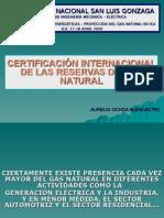 Certificacion Internacional de Las Reservas Del Gas Natural (Dr. Aurelio Ochoa)
