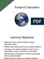 Lab 11 - Carbon Footprint Calculation