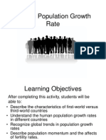 Lab 13 - Human Population Growth Rate
