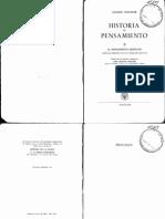 Historia Del Pensamiento II (El Pensamient - Chevalier, Jacques