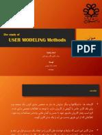 User Modeling Methods